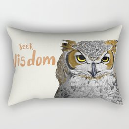 Seek Wisdom Rectangular Pillow