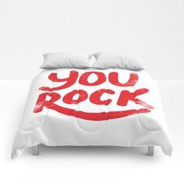 You Rock Vintage Red Comforters