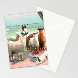 Funny Llama Beach Stationery Cards