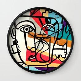 URBAN POP ART - ORIGINAL ART COLORFUL ROBERT R Wall Clock