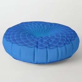 Blue and round Graphic Floor Pillow