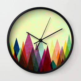 Color Peaks Wall Clock