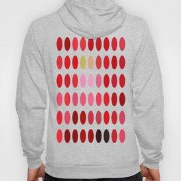Mottled Red Poinsettia 2 Dots Hoody