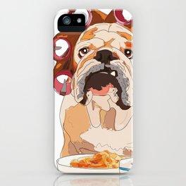 English Bulldog-Good Morning.  It's pee o'clock. iPhone Case