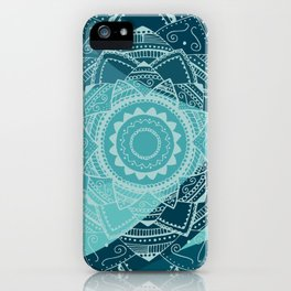 Singing white mandala iPhone Case