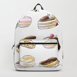 Watercolor Desserts pattern Backpack