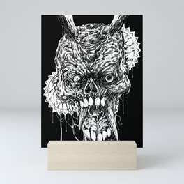 Tortured Skull Of Death Mini Art Print