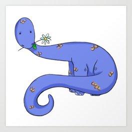 Daisy Dinosaur Art Print