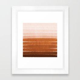 Sunset - rust, terracotta, clay, desert, sunshine, boho, ombre, paint, sunset colors,  Framed Art Print