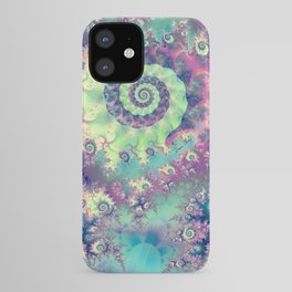 Violet Teal Sea Shells, Abstract Underwater Forest  iPhone Case