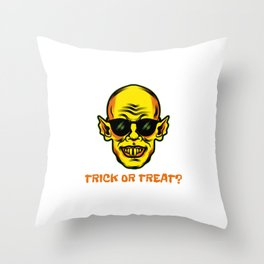 Cool and Scary Halloween Design,trick or treat Throw Pillow