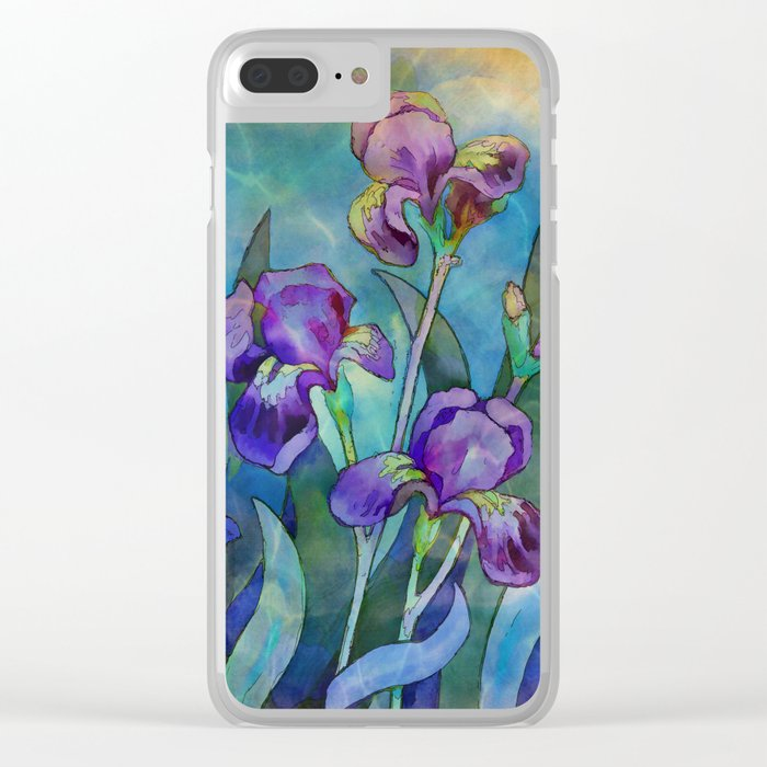 Fantasy Irises Clear iPhone Case