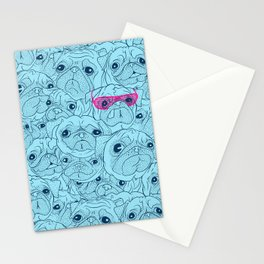 Pug jumble Stationery Cards