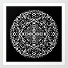 Doodle circle 1 Art Print