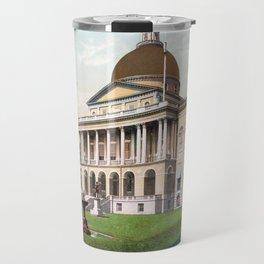 The Massachusetts State House - Boston - Circa 1900 Photochrom Travel Mug