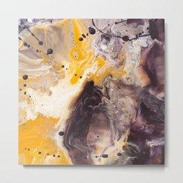 Color Commentary #16: Purple/Maroon & Golden Yellow [Herman de Waal] Metal Print