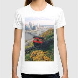An Autumn Day on the Duquesne Incline in Pittsburgh, Pennsylvania T-shirt