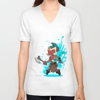 dota V-neck T-shirts featuring Troll Warlord by Angxix