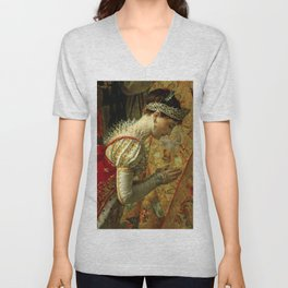 """Jacques-Louis David """"The Coronation of the Napoleon and Joséphine in Notre-Dame Cathedral""""(detail) Unisex V-Neck"""