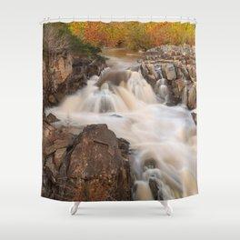 Great Falls Autumn Cascades Shower Curtain