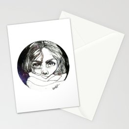Hiding in space Stationery Cards
