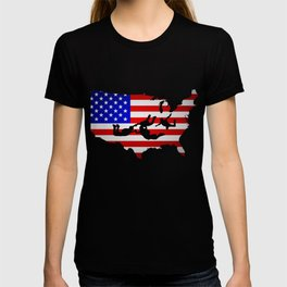American Flag Shirt. Skydiving Costume. T-shirt