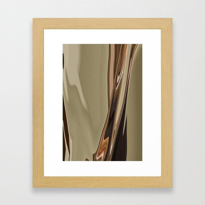Pour Slip Framed Art Print