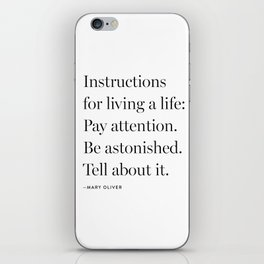 Mary Oliver iPhone Skin