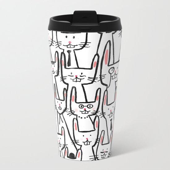 Bunny family Metal Travel Mug