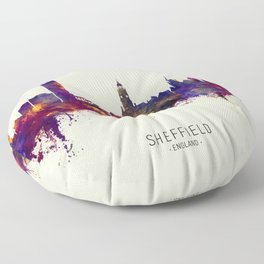 Sheffield England Skyline Floor Pillow