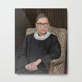 Ruth Bader Ginsburg Portrait Metal Print