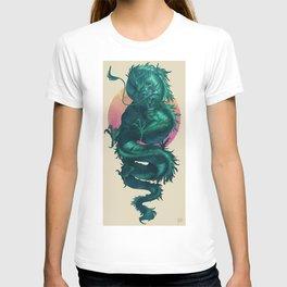 80's Styled Japanese Dragon Illustration T-shirt