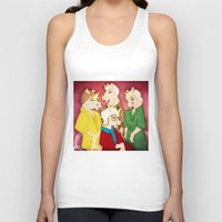 unicorns Tank Tops featuring Golden Unicorns by That's So Unicorny