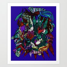 Jungle tree Art Print