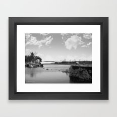Crumbled Pier Framed Art Print