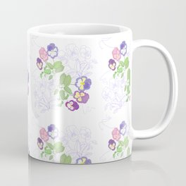 Pansies Neck Gator Pansy Coffee Mug