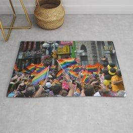 Gay Pride March Rug