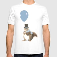 party squirrel MEDIUM Mens Fitted Tee White