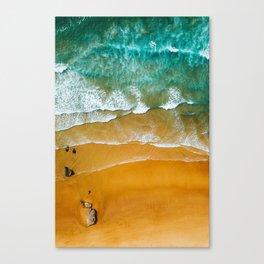 Ocean Waves Crushing On Beach, Drone Photography, Aerial Photo, Ocean Wall Art Print Decor Canvas Print