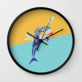 Aspiring Dolphin/Shark Wall Clock