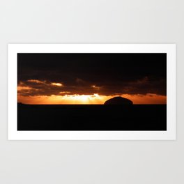 sunset on ailsa. Art Print