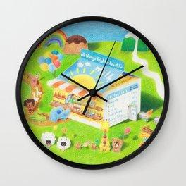 Milk Carton dessert store Wall Clock