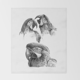 Macaw study SK0114 Throw Blanket
