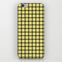 Small Khaki Yellow Weave iPhone Skin