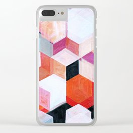 White Paint and Some Colors Clear iPhone Case