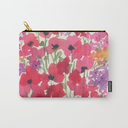 Big Red Poppy Patch Carry-All Pouch