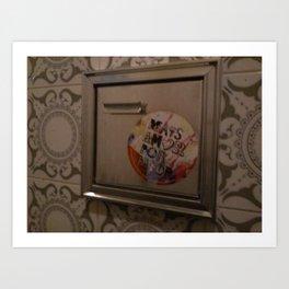 bathroom sticker Art Print