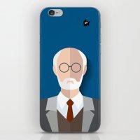 freud iPhone & iPod Skins featuring Freud by Diretório do Design
