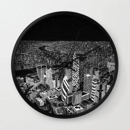 London in BW Wall Clock