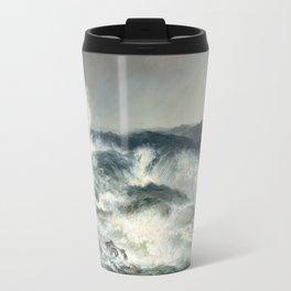 The Much Resounding Sea Thomas Moran Travel Mug